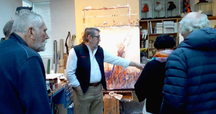 Atelierbesuche bei Anton Christian am 5. Feber 2019